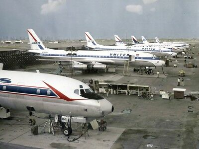 United Airlines Douglas Dc 8 12   8 5 X11    Print