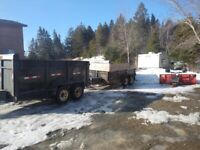 Dump trailers for rent $100 per day drop off & pick up