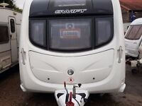 SUPERB 2011 Swift Conqueror Silver Side 480 2 Berth End Washroom Caravan with MOTOR MOVER