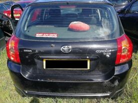 Toyota Corolla 2006 Black - For parts only!
