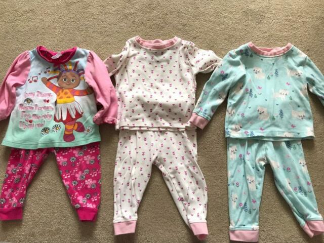 382ce7911 Baby Girls 9 12 Months Pyjamas X 5 Pairs Excellent Condition!