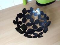 John Rocha metal black gloss fruit bowl,