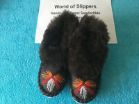Womens Finest Comfort Leather Ladies Handmade Slippers - mix size and colour design !