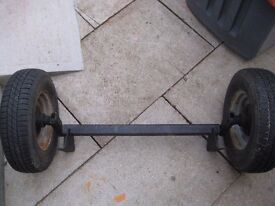 Trailer axle wheels and tyres