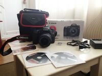 Canon EOS 70d 20.2MP DSLR VIDEO CAMERA 18-55 IS STM KIT WITH BOX MANUALS BATTERY