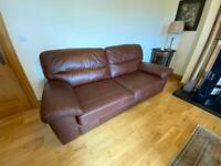 Tan leather Sofa in excellent condition