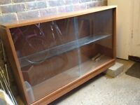 Vintage glass bookcase / display case