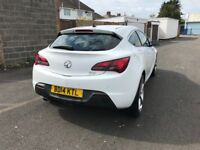 2014 VAUXHALL ASTRA 2.0 DIESEL WHITE GTC FSH ONE YEAR MOT MUST SEE QUICK SALE CHEAP TO INSURE