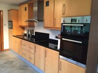 Luxury solid beech and granite kitchen for sale