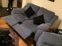 2 x two seater sofas.