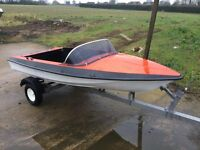 12FT SPEEDBOAT FOR RIVER OR SEA USE NO TRAILER OR OUTBOARD INCLUDED