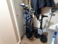 Golf set with trolly