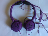 Skullcandy Lowrider On-Ear Headphones Supreme Audio Stereo Foldable Wired Bass