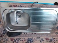Good quality/Like new stainless steel sink with tap mixer - Sparkhill Birmingham