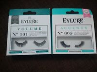 Two packs of EYELURE fake eyelashes (unused)