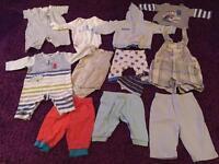 0-3 month baby boy clothes bundle