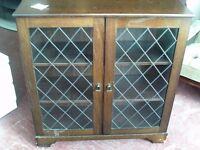 vintage look display cabinet