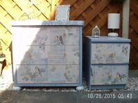 UPCYCLED CHEST OF DRAWER,S & BEDSIDE CABINET