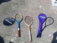 Rackets - Tennis squash dunlop. Prince. Wood