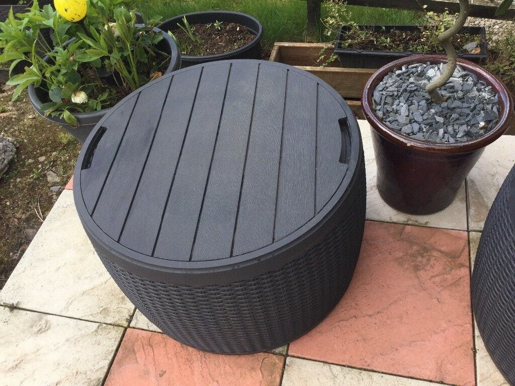 Round Keter Rattan Storage Boxpatio Tableseat Available In Bridge Of Don Aberdeen Gumtree