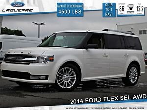 2014 Ford Flex **SEL*AWD*CUIR*TOIT*NAV*CAMERA*A/C**