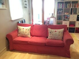 Ikea EKTORP Three-seat sofa as brand new. Cushions included in the price. Quick sale.
