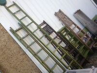 Vintage Shabby Chic Wood Step Ladders Steps