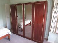 Glass Fronted Wardrobe