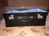 Vintage Black soft top suitcase