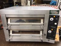 "COMMERCIAL CATERING BIG QUALITY DOUBLE PIZZA OVEN 12 X 13"" CAFE KEBAB CHICKEN RESTAURANT FAST FOOD"