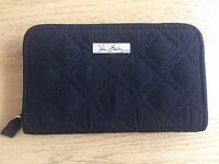 Vera Bradley Quilted Wallet, Black