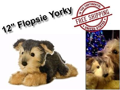 Yorky Yorkie Gift Plush Dog Realistic Soft Puppy Toy Cute Stuffed Animals 12