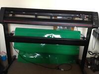 Vinyl cutter plotter and large amount of vinyl
