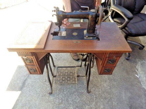 ANTIQUE ORNATE WHEELER & WILSON #9 TREADLE SEWING MACHINE PAT 1887 #221882