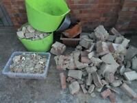 Bricks and rubbke