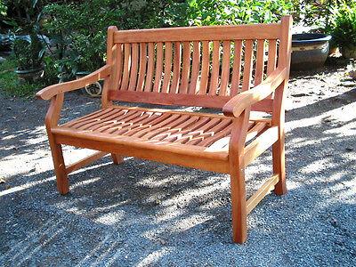 NEW JERSEY Gartenbank 3-Sitzer Bank Holz Hartholz Garten Sitzbank Holzbank natur