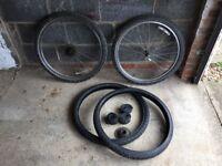 """26"""" Mountain Bike Wheels w/ spare Tyres"""