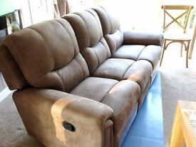 Gorgeous buffalo brown 3-seater recliner sofa - BRAND NEW