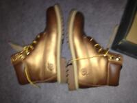 Size 6 womens timberland boots in a copper colour