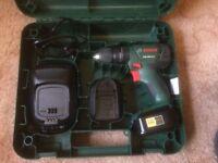 Bosch PSB 1800 LI-2 cordless combi drill, 2 batteries, charger & case
