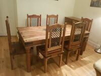 Dining Table with 6 chairs. Includes sideboard.