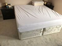 Millbrook Orthopaedic Mattress and Divan Base Bed. Second Hand. XL King Size