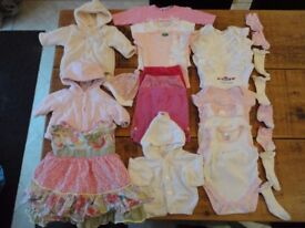 0-3 Mths Girls Clothes Bundle (21 Items)