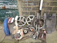 Various vintage motorbike parts