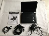 "Coby 7"" Widescreen Portable DVD Player with SD card and USB slots"