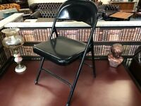 Black Metal Office Folding Chair