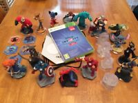 Xbox 360 Disney infinity 2.0 game & characters