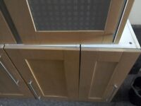 Solid Beech Wood Kitchen Units Plus Sink & Taps