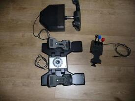 Saitek Pro Flight Yoke System & Rudder Foot Pedal (Wheel, Throttle, & Rudder)