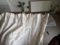 Set of curtains with rail